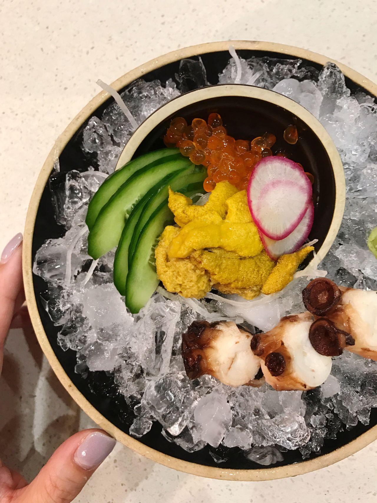 Japanese Food In My Mouf | Sea Urchin & Octopus Sashimi Dinner 😋