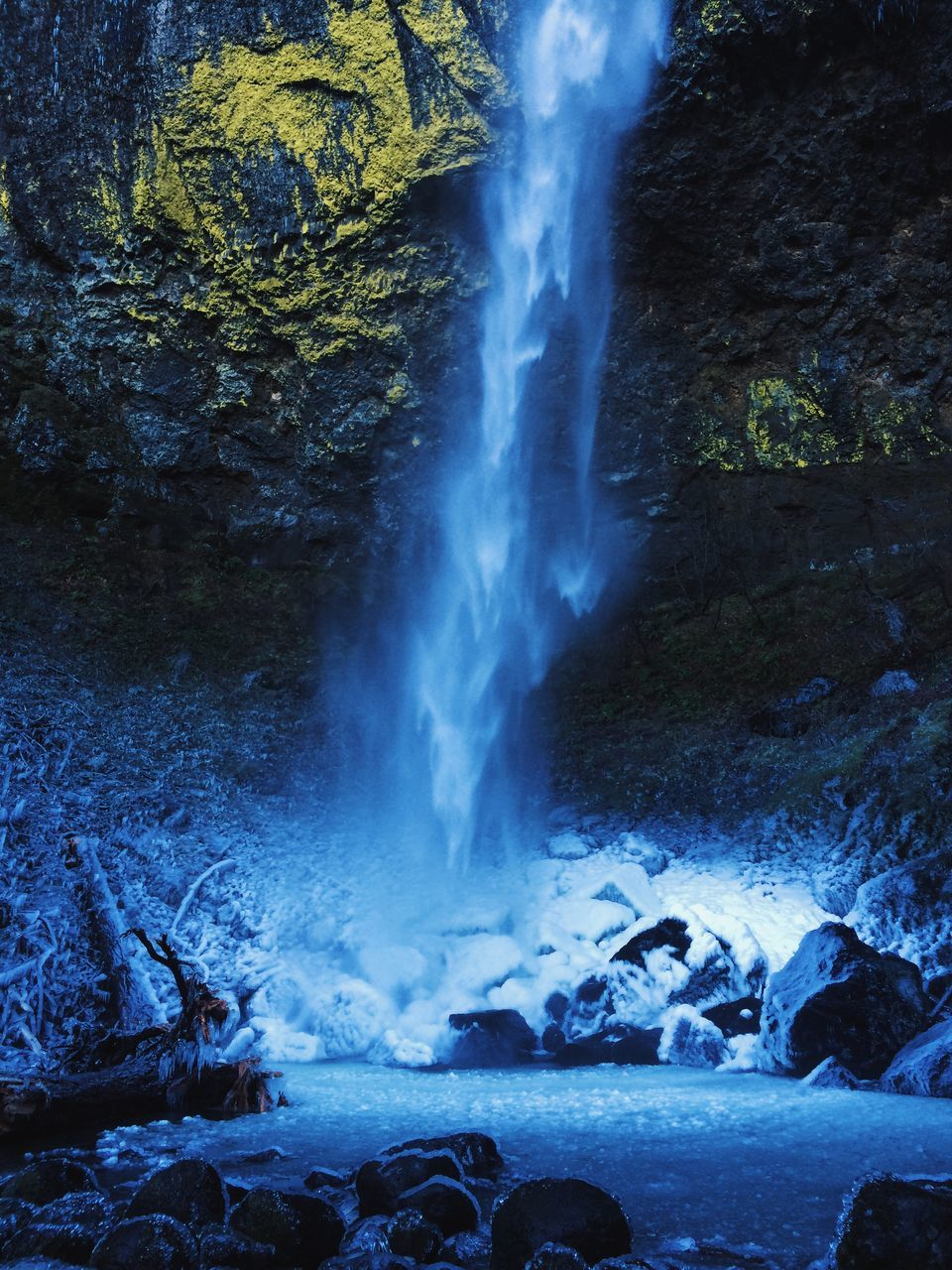 Waterfall During Winter