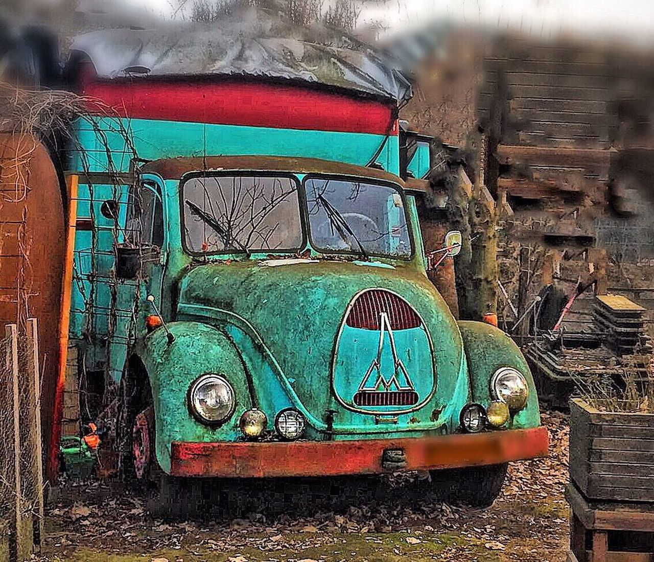 Adapted To The City Transportation Land Vehicle Mode Of Transport Old-fashioned Abandoned Day Outdoors Bad Condition Rusty No People Tree Tractor Close-up oldtimer Magirus Deutz
