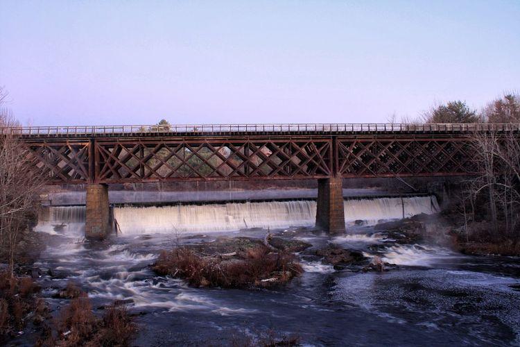 Bridge Train Bridge Trussle Waterfall