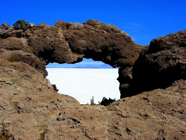 Salar de Uyuni light Bolivia EyeEm Nature Lover EyeEm Gallery Lights Beauty In Nature Blue Clear Sky Colorful Day Dry Climate Geology Landscape Natural Arch Nature No People Outdoors Physical Geography Rock - Object Rock Formation Salar De Uyuni Salt - Mineral Scenics Sky Tranquil Scene Tranquility