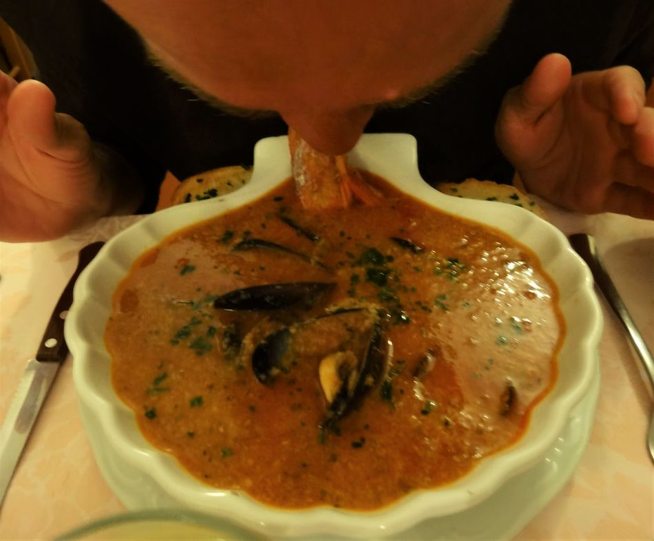 Restaurant La Finestrella, Montalto Ligure, Italy Fish Fish Soup Food Italia Italy Liguria Montalto One Person Plate Ready-to-eat Restaurant Slow Food Soup Soup Of The Day Soup Time