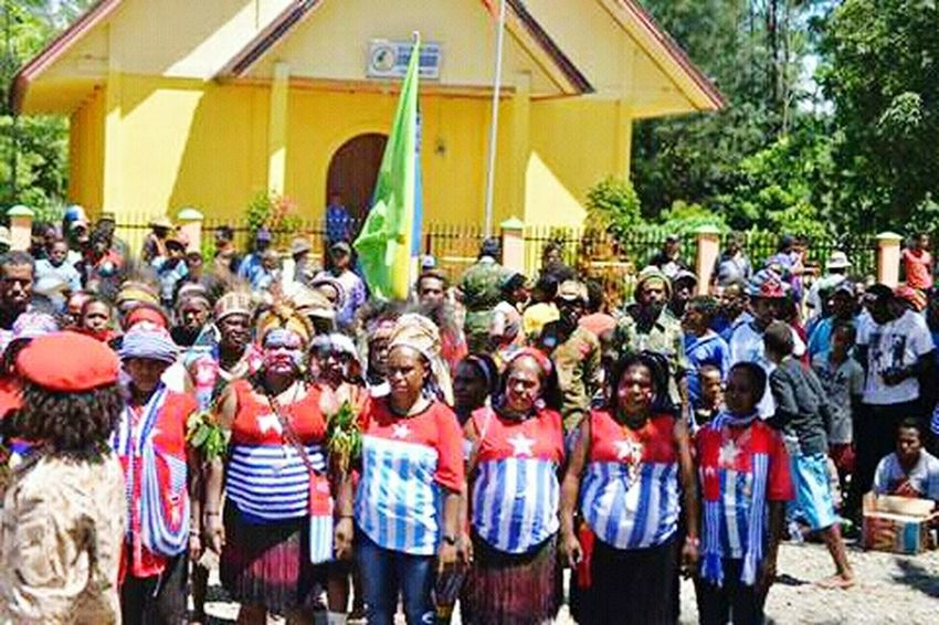 Large Group Of People Celebration Real People West Papua People Papua Free Of Indonesia Colonial West Papua Want To Free Of Indonesia Colonial. West Papua Politic Of Freedom West Papua Flag West Papua Women Uniform Of West Papua Tradition Countrylife Social Issues Patriotism