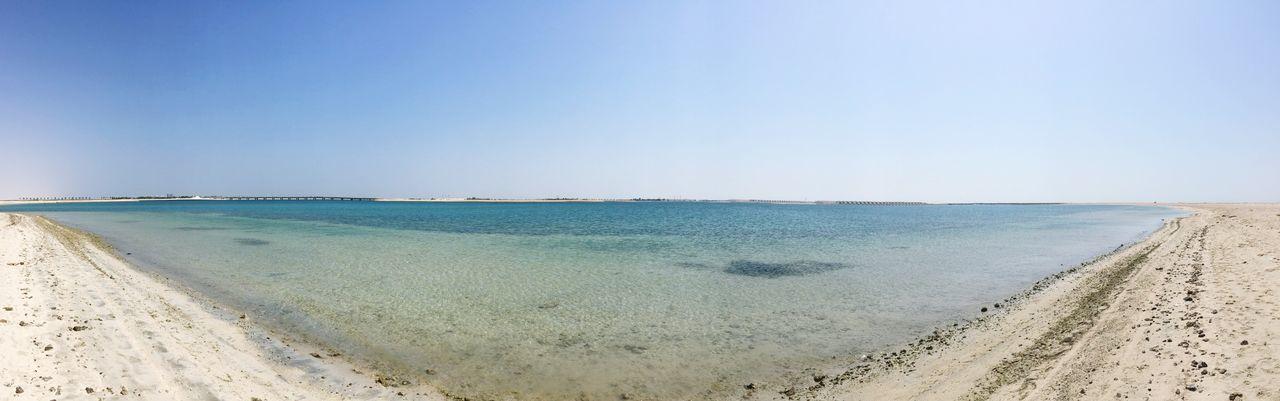 The beauty of the gulf sea... Beach Sea Gulf Tranquil Scene