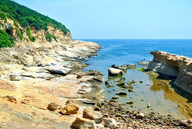 Beauty In Nature Clean Water Clear Sky Clear Water Coastline EyeEm Best Shots Idyllic National Park Rock Rock - Object Rock Formation Rocks And Water Rocky Rocky Beach Sandy Scenics Shore Showcase April Stones Taiwan The KIOMI Collection Tranquil Scene Tranquility Yehliu Yehliu Geopark