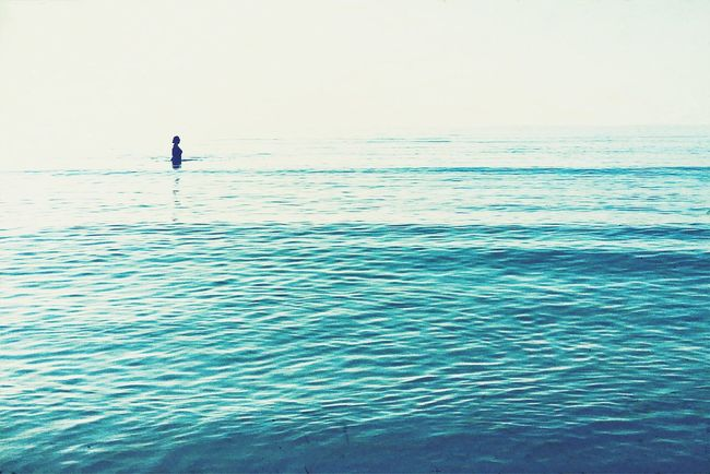 born to be blue EyeEm Best Shots The EyeEm Facebook Cover Challenge IPhoneography Mobilephotography Blue Summer Views Sea Minimalism Minimal Showcase July Silhouette Water