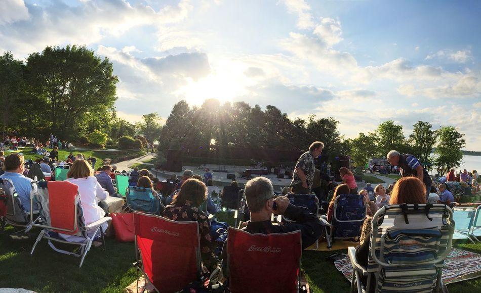 Thursday Night Concert Series at White Rock Lake Music People Tadaa Community Urban Meditation Peace ✌ Freedom City Lights Sunset IPhone