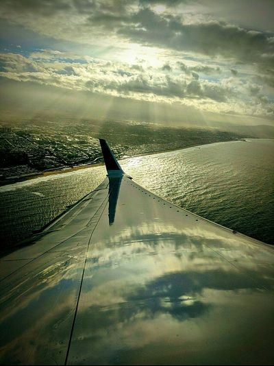 Airplane Flying Transportation Aircraft Wing Travel Cloud - Sky Journey Sky Aerial View One Person