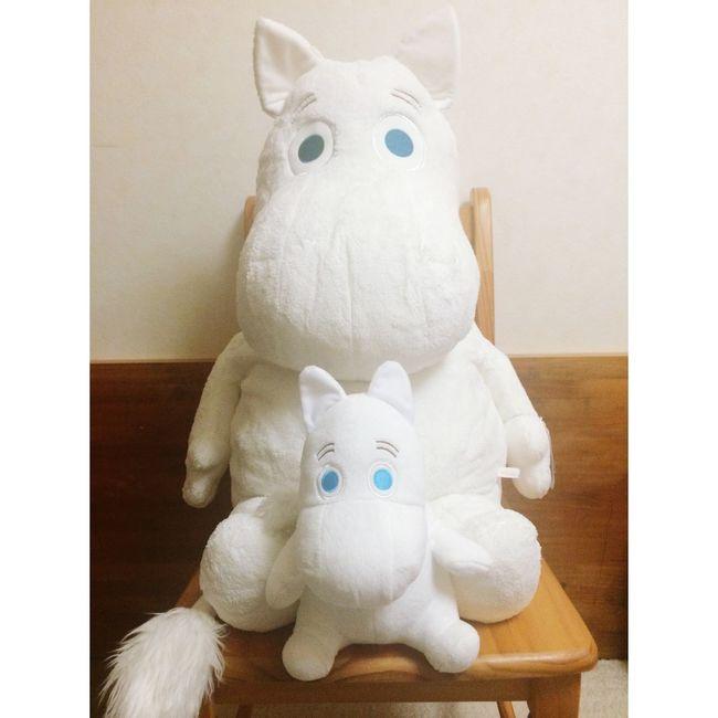 ムーミン Moomin プレゼント Present Thankyou ♥️ 椅子に乗せてるのですがとても大きいのです!!笑