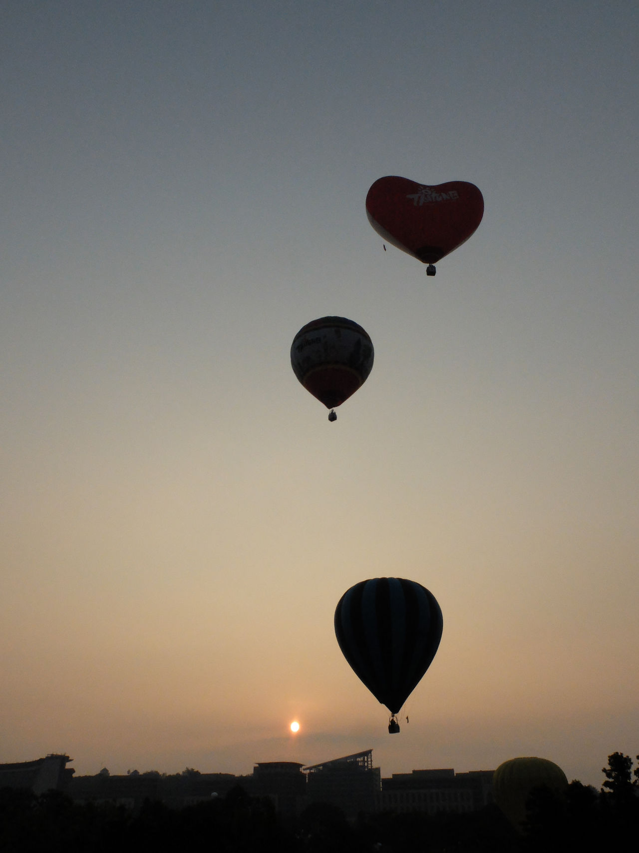 Beautiful stock photos of heart, Clear Sky, Heart Shape, Hot Air Balloon, Low Angle View