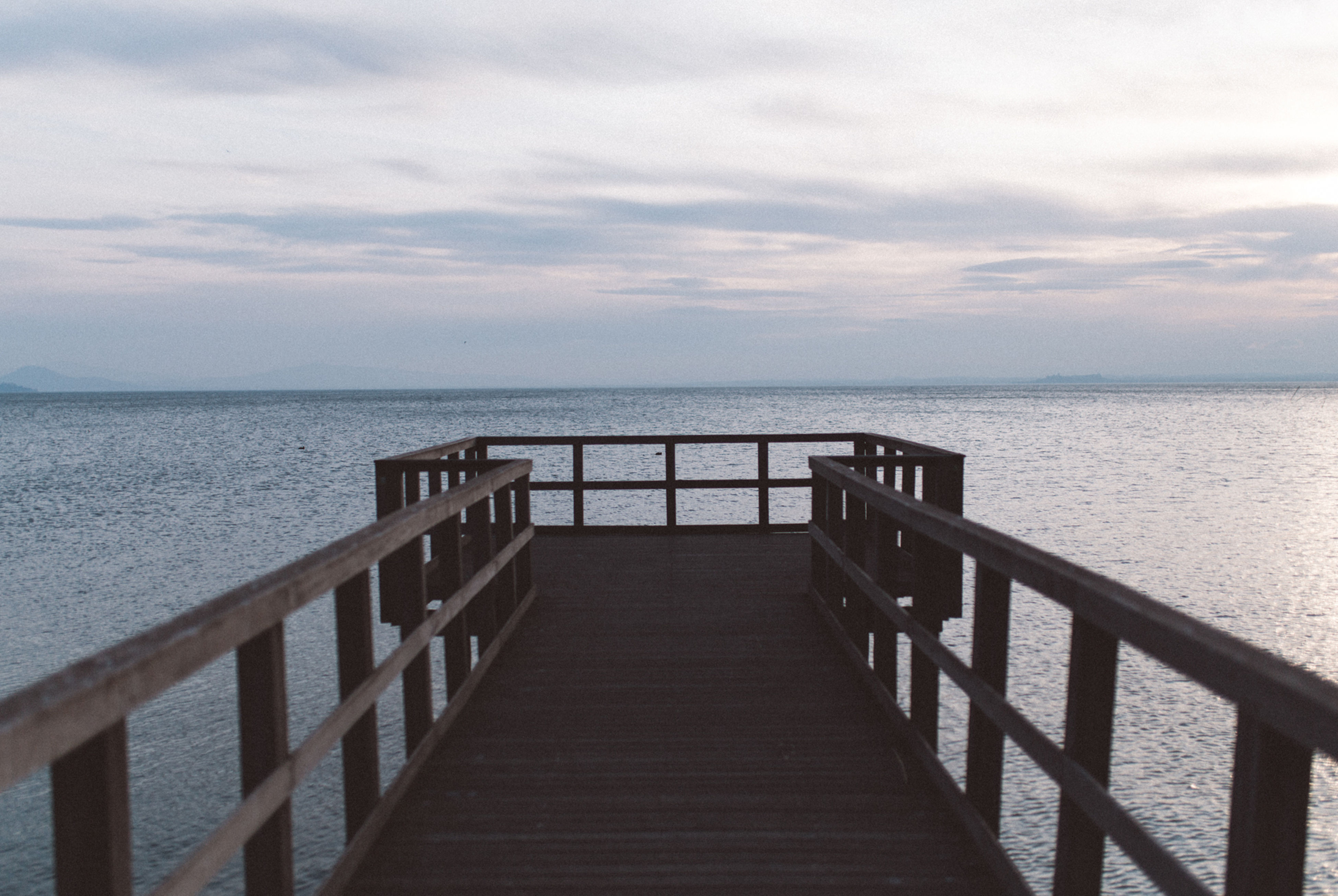 railing, sea, beauty in nature, nature, no people, scenics, outdoors, wheelchair access, sky, day, water