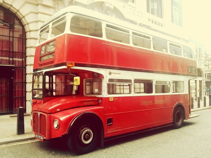 London Bus Old Routemaster Classic Elegance Vintage Back In Time Centeal London British Style