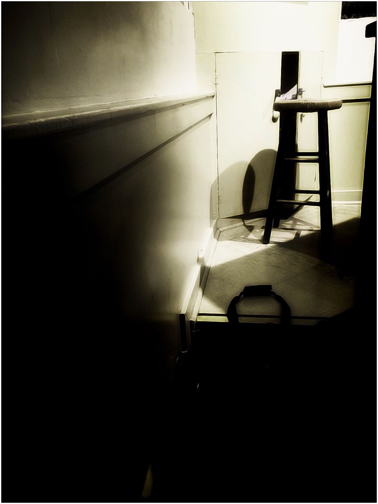 Meeting Hall Stool Black And White Photography Blackandwhite Light And Shadow Lightanddark Indoors  Interior Meetinghall Still Life