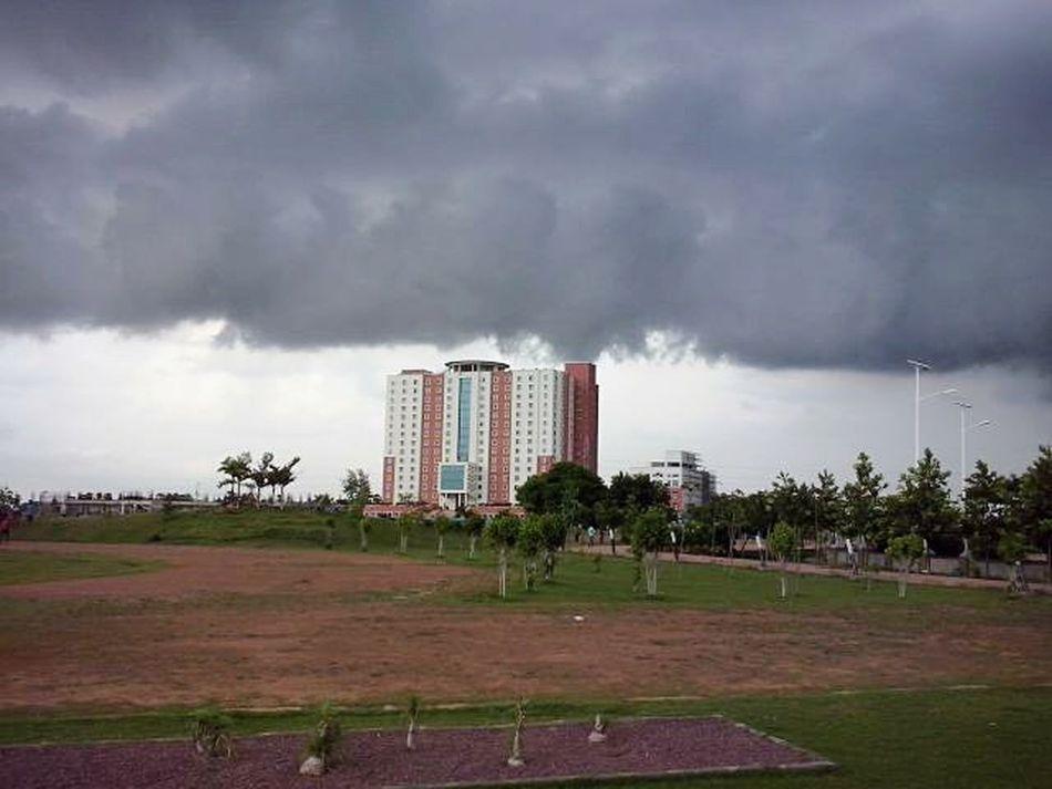 Rain cloud above my campus