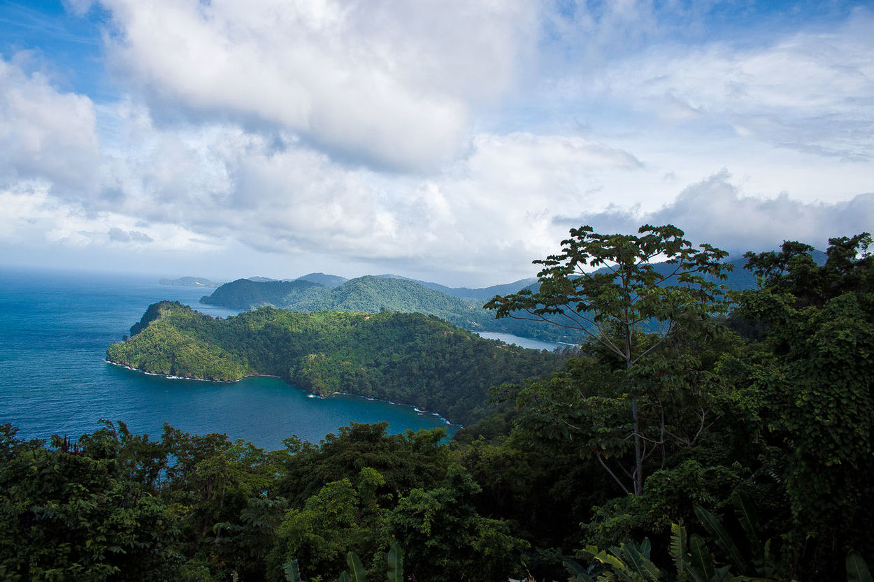 Maracas Beach Maracaslookout Sky Sunrays Through The Branches Freshness Mountains Mountain Range Mountain View Sunlight Sky And Clouds Sea And Sky Seascape Scenery Scenery Shots Beauty In Nature