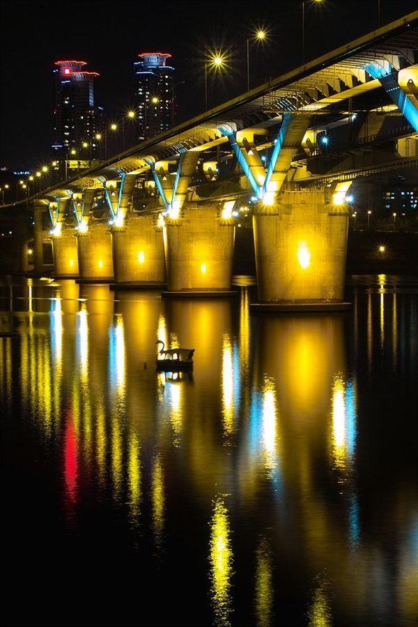청담대교 Water Reflections Hangang Bridge Sd14