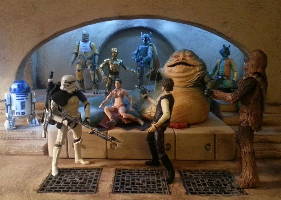 Bossk Chewbacca Diorama Greedo Jabbaspalace Jabbathehutt Rotj Sandtrooper