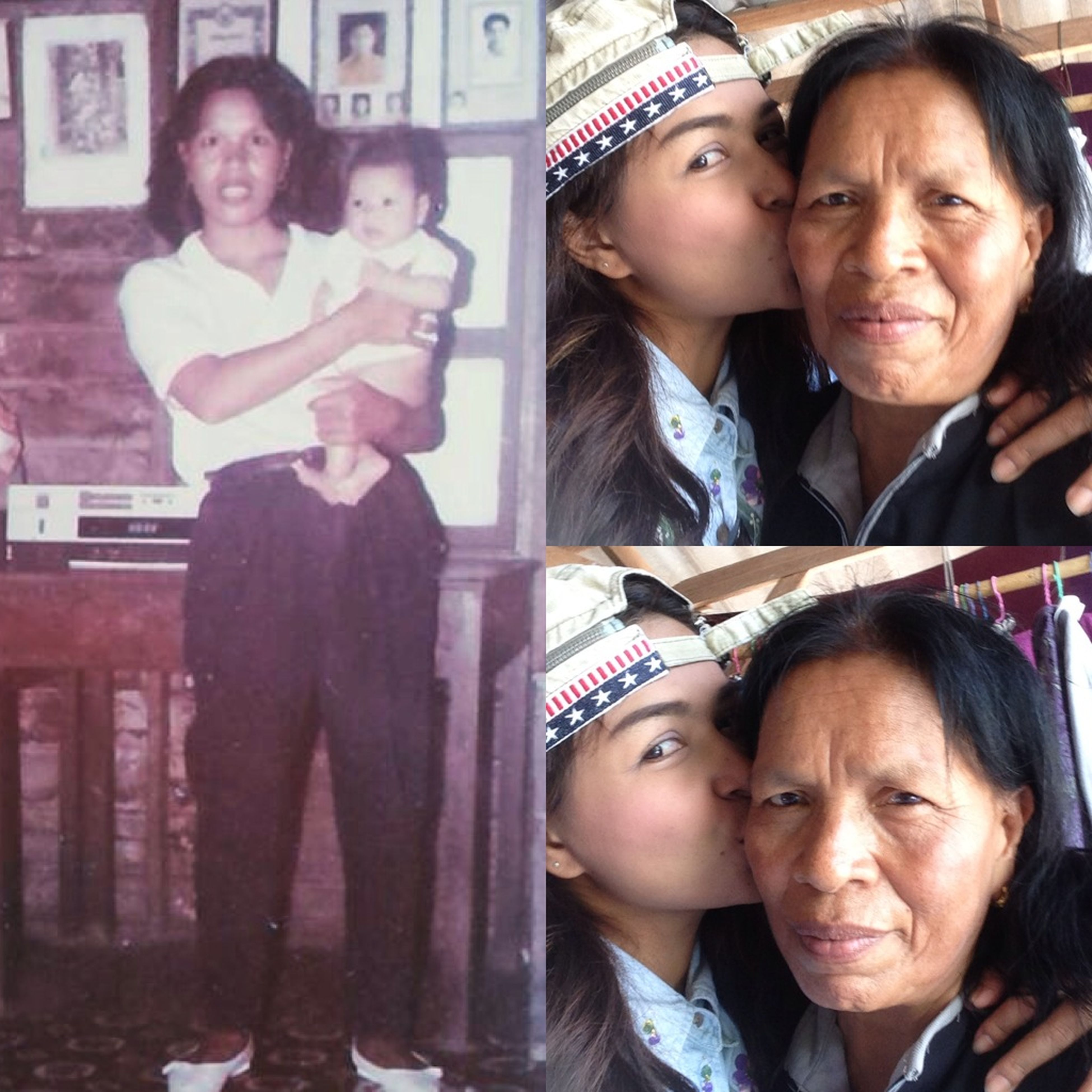 My mother, then aged just 4 months Don't put my mom from her arms. And now I'm 31 years old. I kissed her busy mom as well and as her (mother)I love you🙏