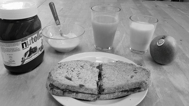 Time For Breakfast  the original simplicity Nutella Orange Juice  Milk Strawberry Yogurt Pink Lady