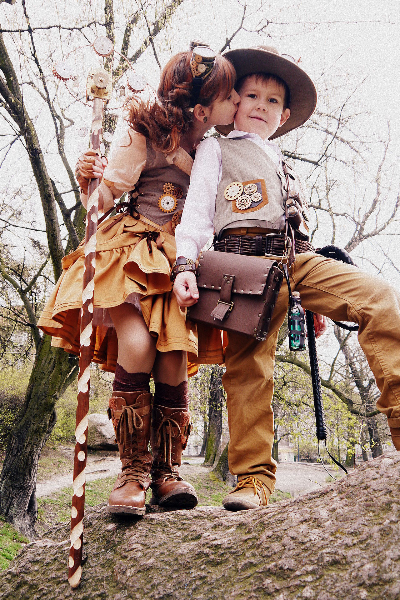 Beautiful stock photos of cowboy, 6-7 Years, 8-9 Years, Bare Tree, Boys