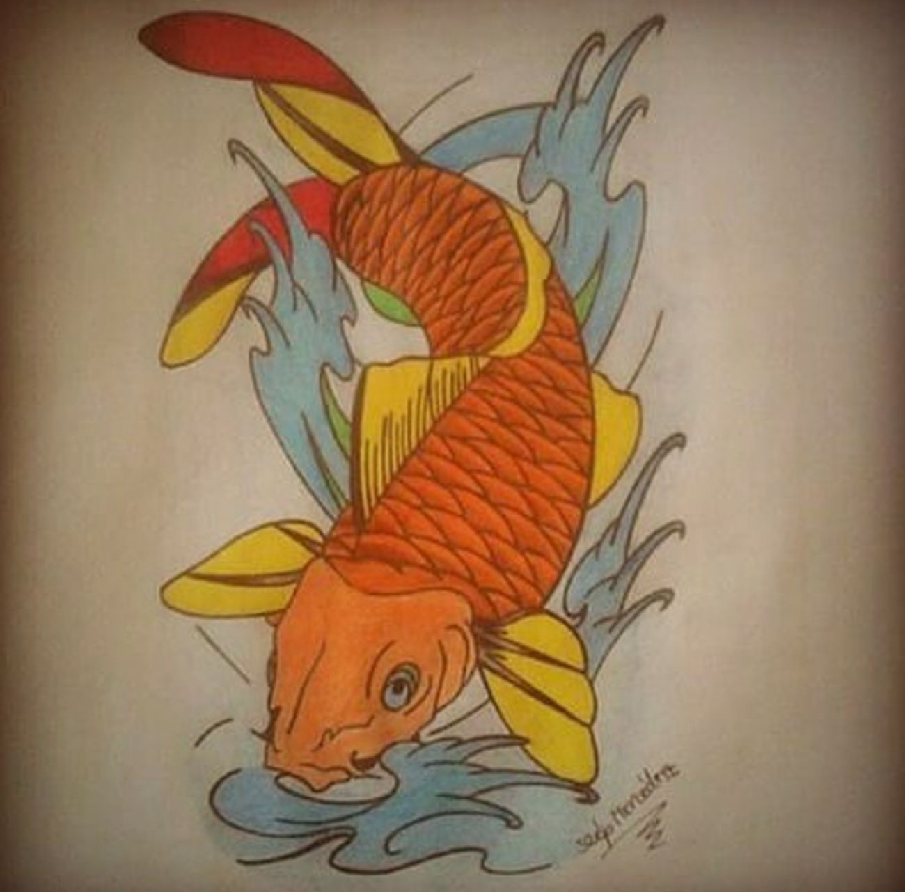 Koi Koi Fish Fish Japanese  Japanese Style Mydraw Hello World Check This Out Tattoo Creative World Picoftheday Drawingtime Drawing Draw Drawings Creative Art, Drawing, Creativity ArtWork Art Arts Follow4follow Likeforlike Design Tattoodesign Tattoo ❤