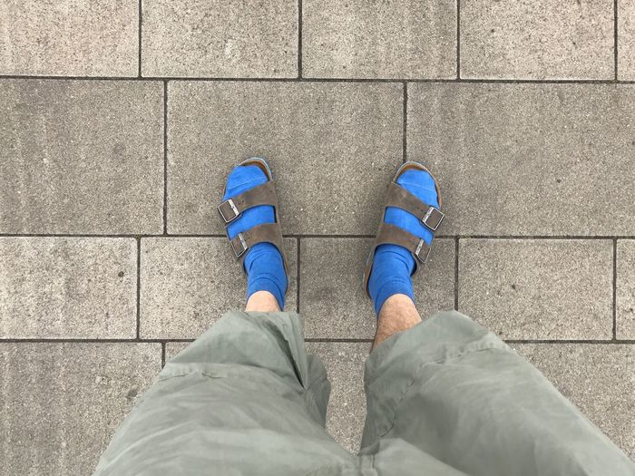 Feet Sandals Socks Tourist German Tourist Shoe Personal Perspective Human Leg Low Section Standing One Person Men Real People Directly Above Human Body Part Outdoors Day One Man Only Only Men Adult People Adults Only