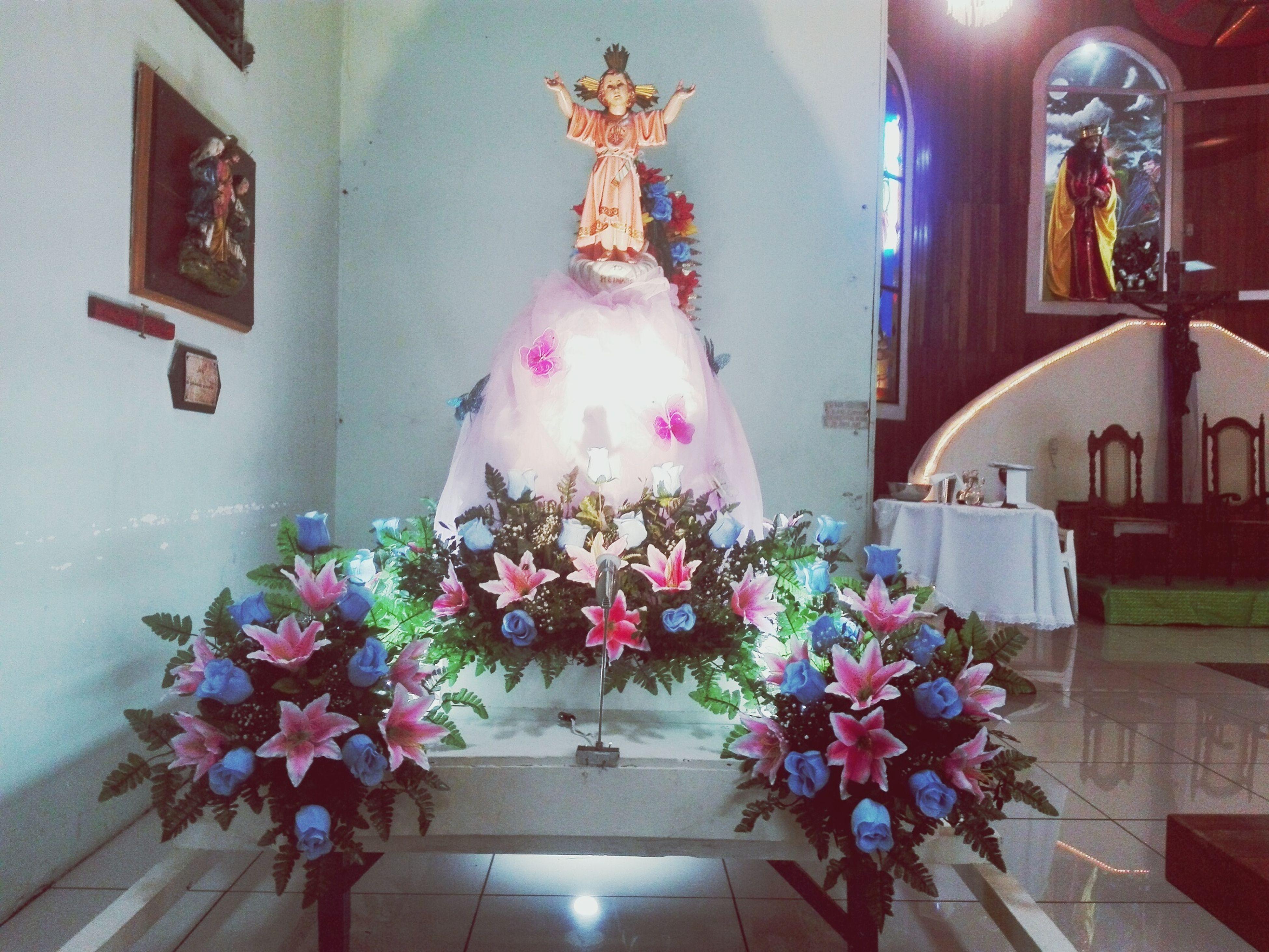 flower, decoration, art, ornate, illuminated, decor, no people, fragility, buddha, day