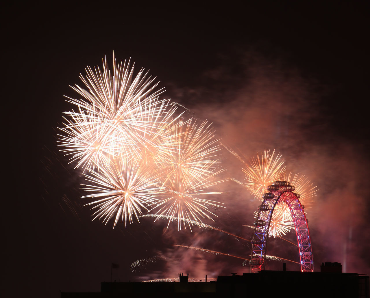 Celebration Colour Colourful Exploding Firework Display London London Eye London United Kingdom New Years New Years Eve Night No People NYE NYE 2016 Outdoors Sky