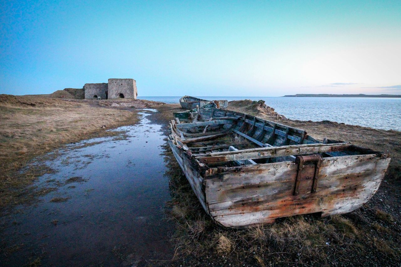 Fading History Boat Wreck Seascape Coastline Rustic Beautiful Angus Scotland Eyem Best Shots Rule Of Thirds