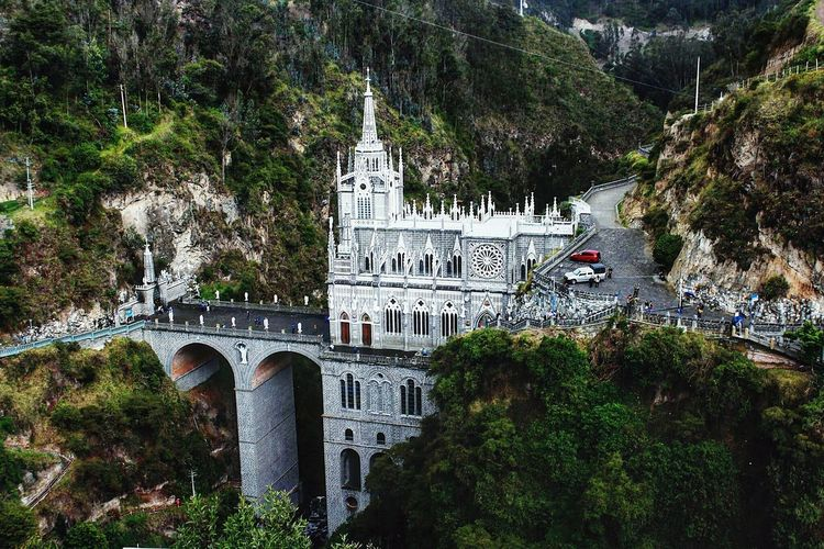 Ipiales Las Lajas Cathedral Nature Architecture Building Exterior Day Iglesia Las Lajas Monumento Nature No People Photo Photography