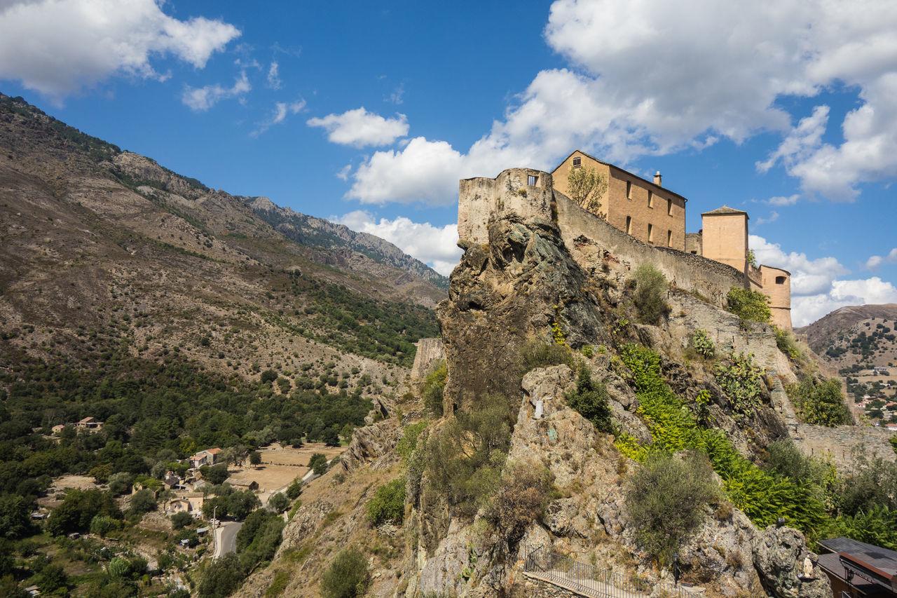 Ancient Architecture Blue Sky Built On A Rock Built On Stones Castle Castle On The Rocks Corse Corsica Europe Landscape