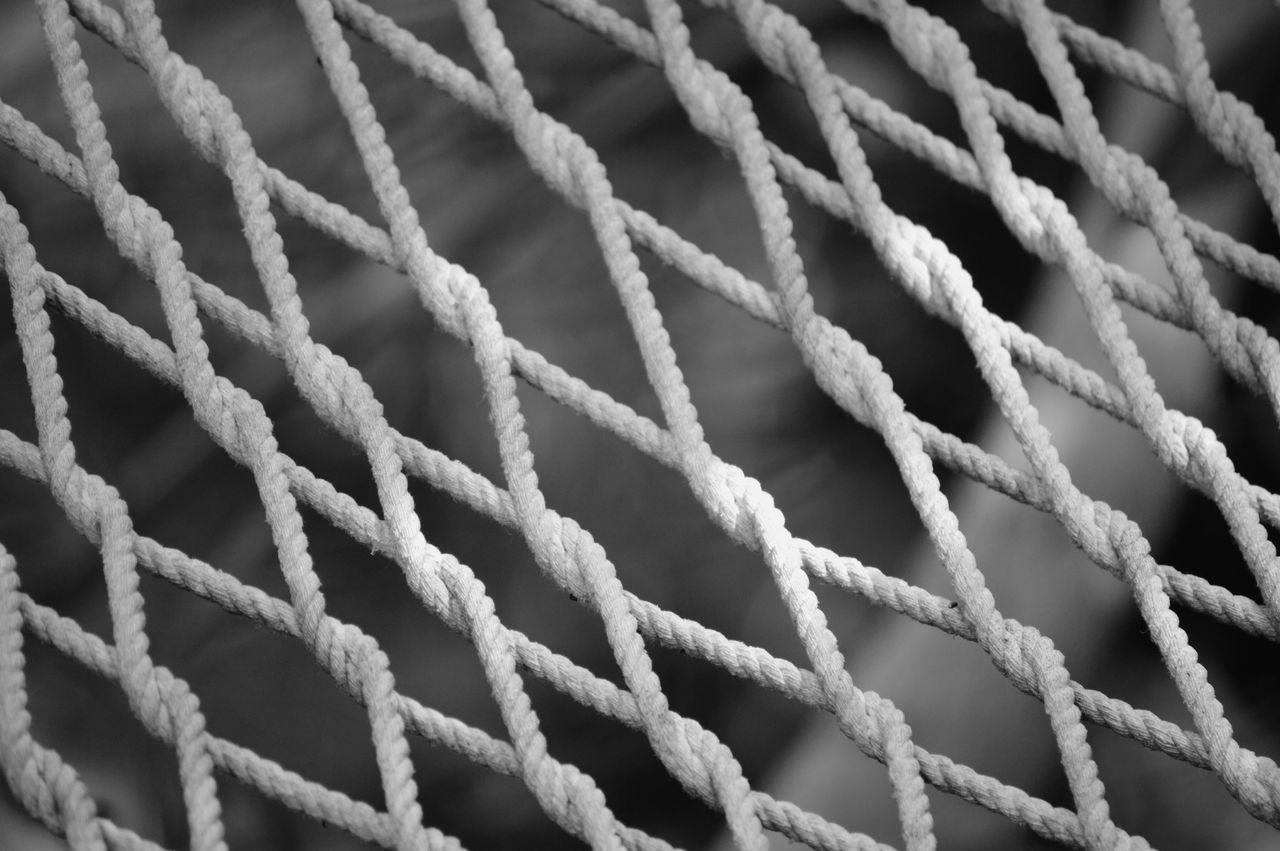 Full Frame Shot White Ropes
