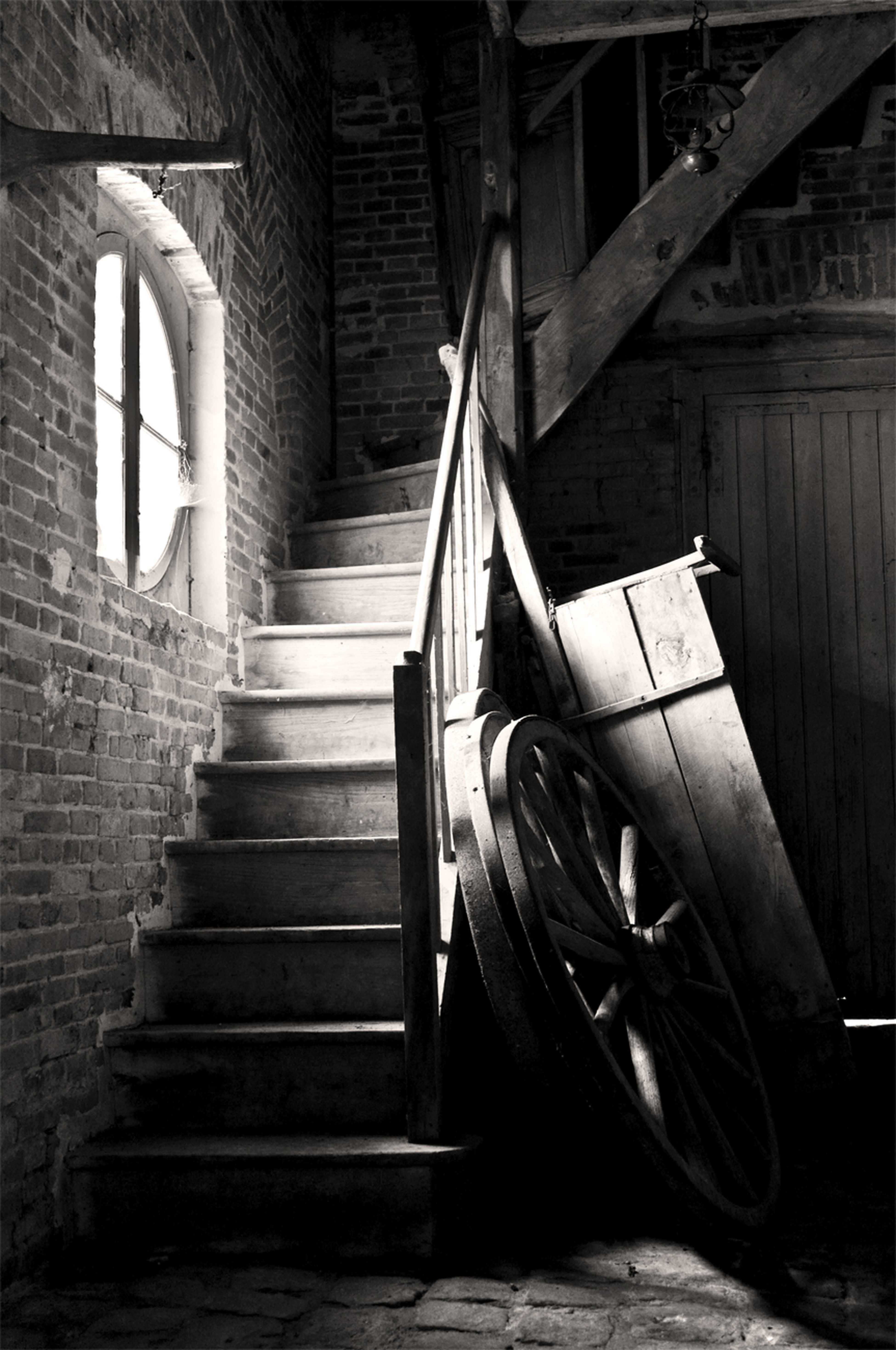 Stairs in the castle shed Bw_collection Bnw_friday_eyeemchallenge Staircase Noir Et Blanc