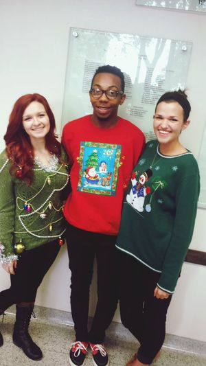 Doesn't get any uglier than that! (The sweaters, of course) Ugly Christmas Sweaters Texas State University Finalsweek