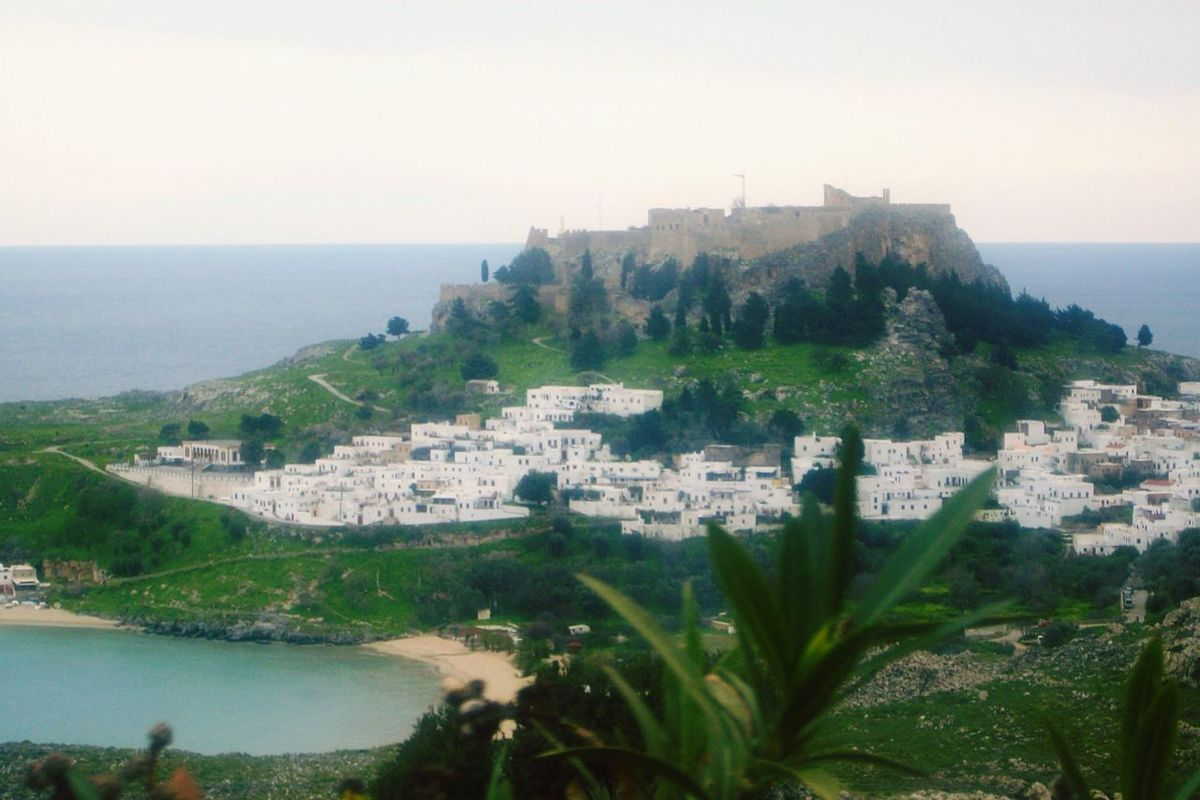 Greece Rhodes Island Lindos Town Nature Great Views