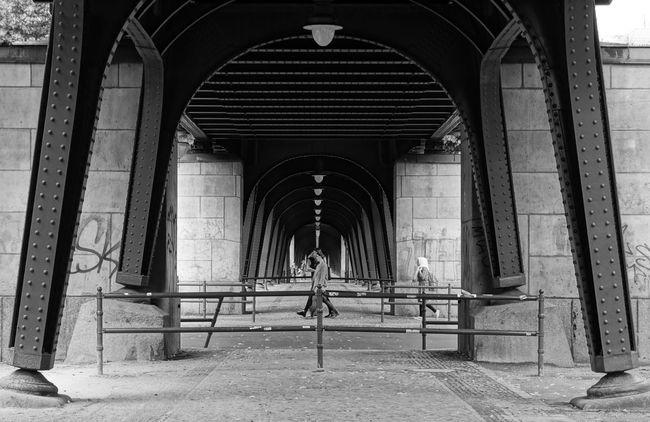 Arch Architectural Column Architecture B&w Black And White Built Structure City Life Column Corridor Historic Prenzlauer Berg Street Photography Streetphoto_bw The Way Forward U-Bahn Ubahn Urban Viaduct Viadukt