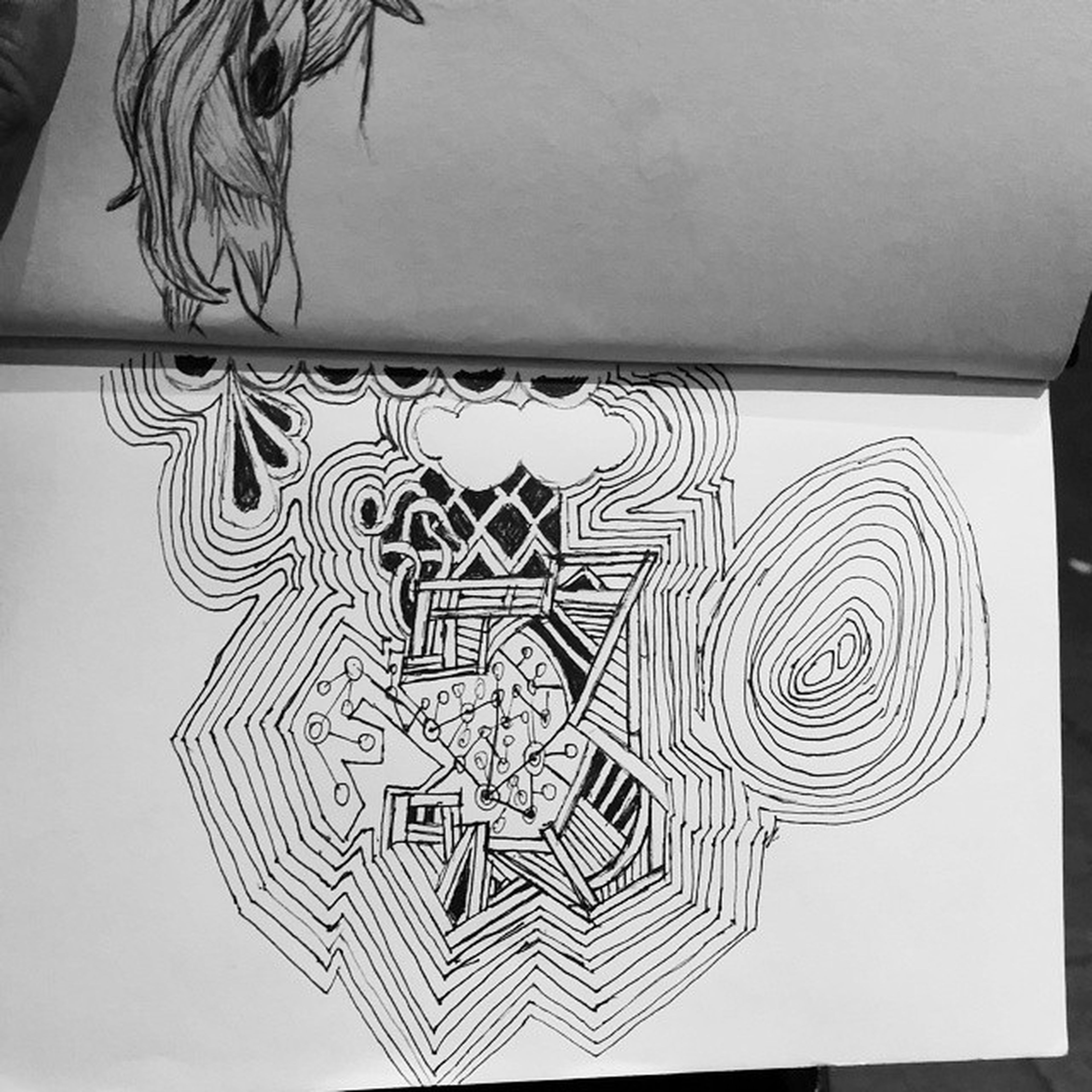 A little Typography Art Pendrawing Micron Micron03 Drawing Arts ArtWork Another Artist Nightart Starbucks Coffee Caffeine Noteventired Notebookart Sketches Sketching GodILoveArt