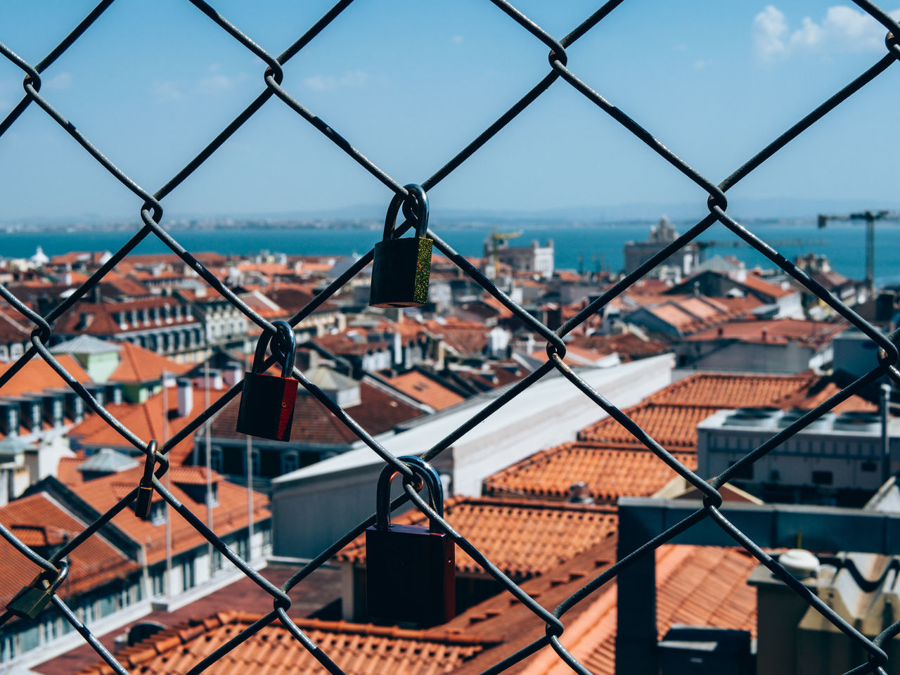 Architecture Building Exterior Built Structure Chainlink Fence City Cityscape Close-up Day Focus On Foreground Forever Forever Love Lock Lock On Bridge Locks Locks Of Love Locks Of Love Bridge Locksoflove Love Love Lock Love Lock Bridge Love Locks Love Locks Bridge No People Outdoors Sky