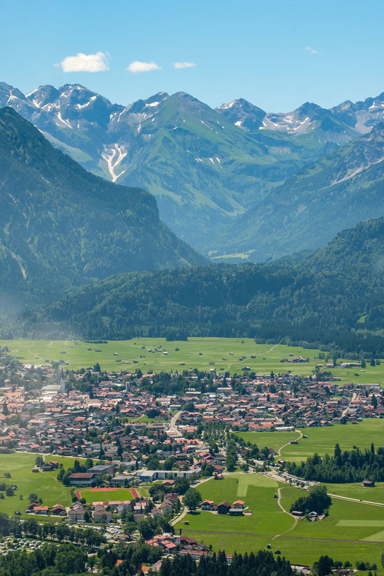 Aerial view on Oberstdorf with mountains Bavaria Aerial Agriculture Beauty In Nature Day Field High Angle View House Idyllic Landscape Mountain Mountain Range Mountains Nature No People Oberstdorf Outdoors Rural Scene Scenics Sky Tranquil Scene Tranquility Tree Vertical Format