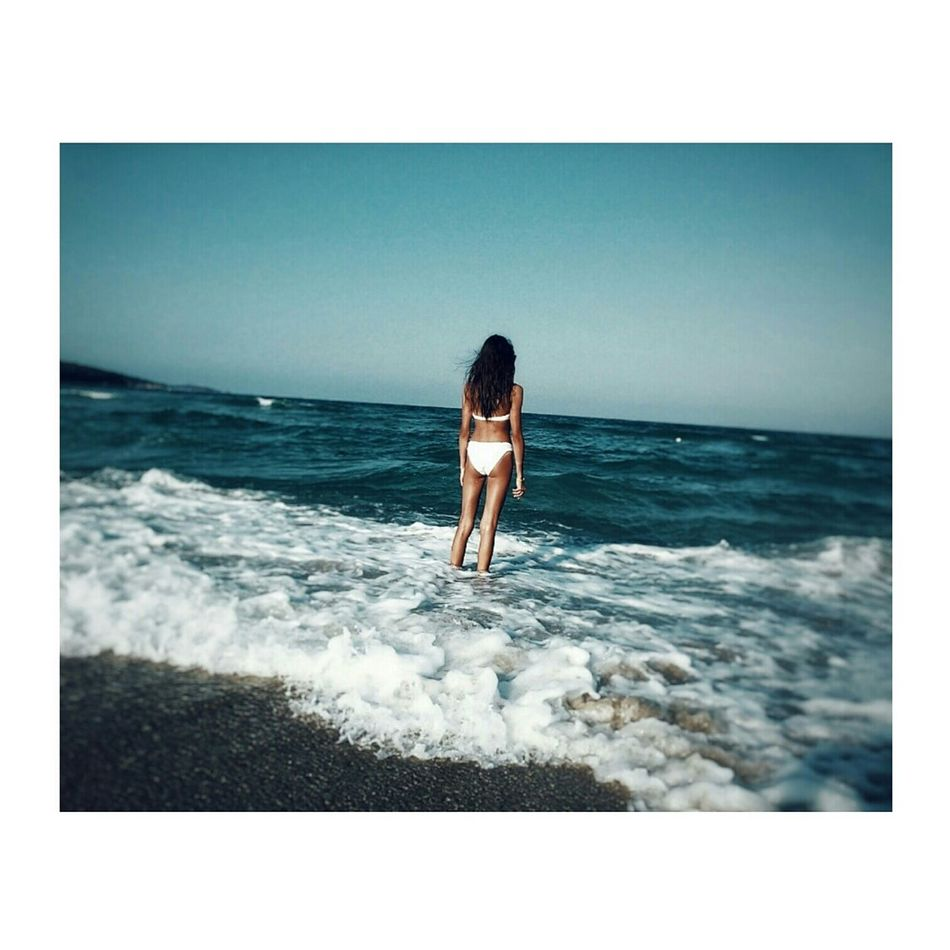 Bulgaria Enjoyingsummer Sea Blacksea Beach Sand Blue Bluesky Noclouds Girl Picturing Individuality