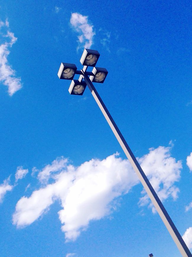 Light post in a parking lot. Color Palette Blue Blue Sky Sky Sky And Clouds Clouds And Sky Clouds Nature Abstract Outdoors Photography Lookingup Taking Photos Sightseeing Enjoying The View Enjoying The Sun Enjoying Life Lamp Lamppost Light Lightpost EyeEmBestPics Eye4photography  Colors EyeEm Best Shots
