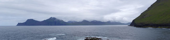 View from gjogv to kalsoy of the faroe islands. Beauty In Nature Cloud - Sky Day Fjord Gjogv Gjógv Faroe Island Island Kalsoy Landscape Mountain Nature No People Northern Europe Outdoors Panorama Panoramic Panoramic Landscape Panoramic Photography Panoramic View Scenics Sky Travel Travel Destinations Vacations Water