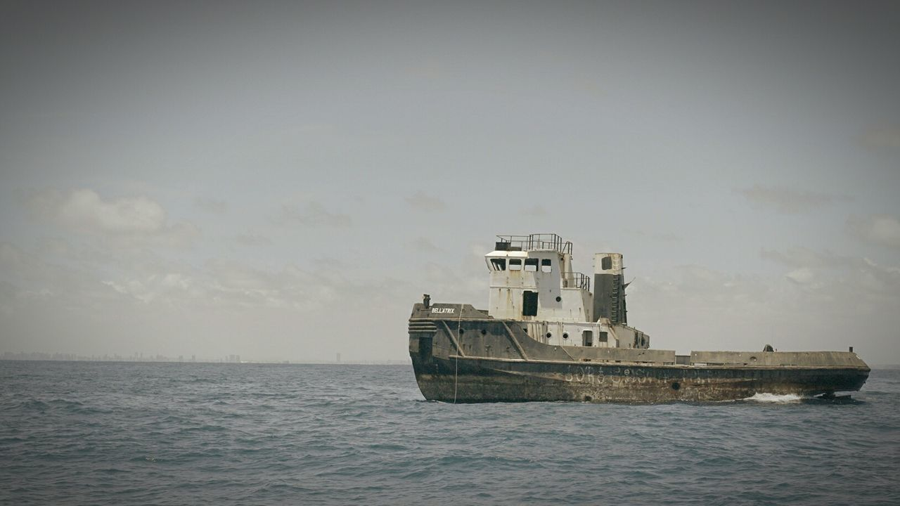 Ships⚓️⛵️🚢 Shipwreck Recife/PE Sky Nature No People Water
