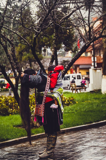 Enjoy The New Normal Sapa, Vietnam LaoCai People Mom ❤ Her Son Normal Day Living Life My Country