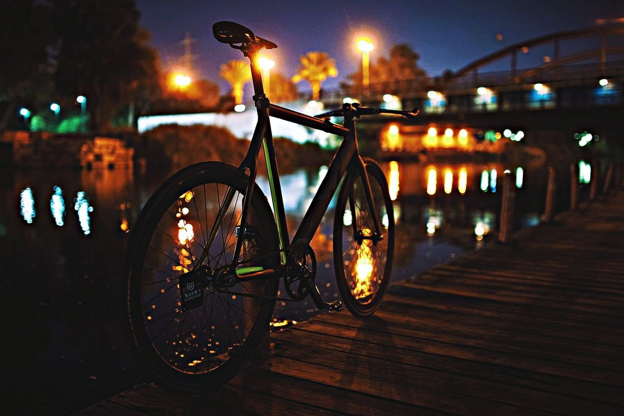 Commuter Bicycle Light And Shadow Bokeh Fixed Gear