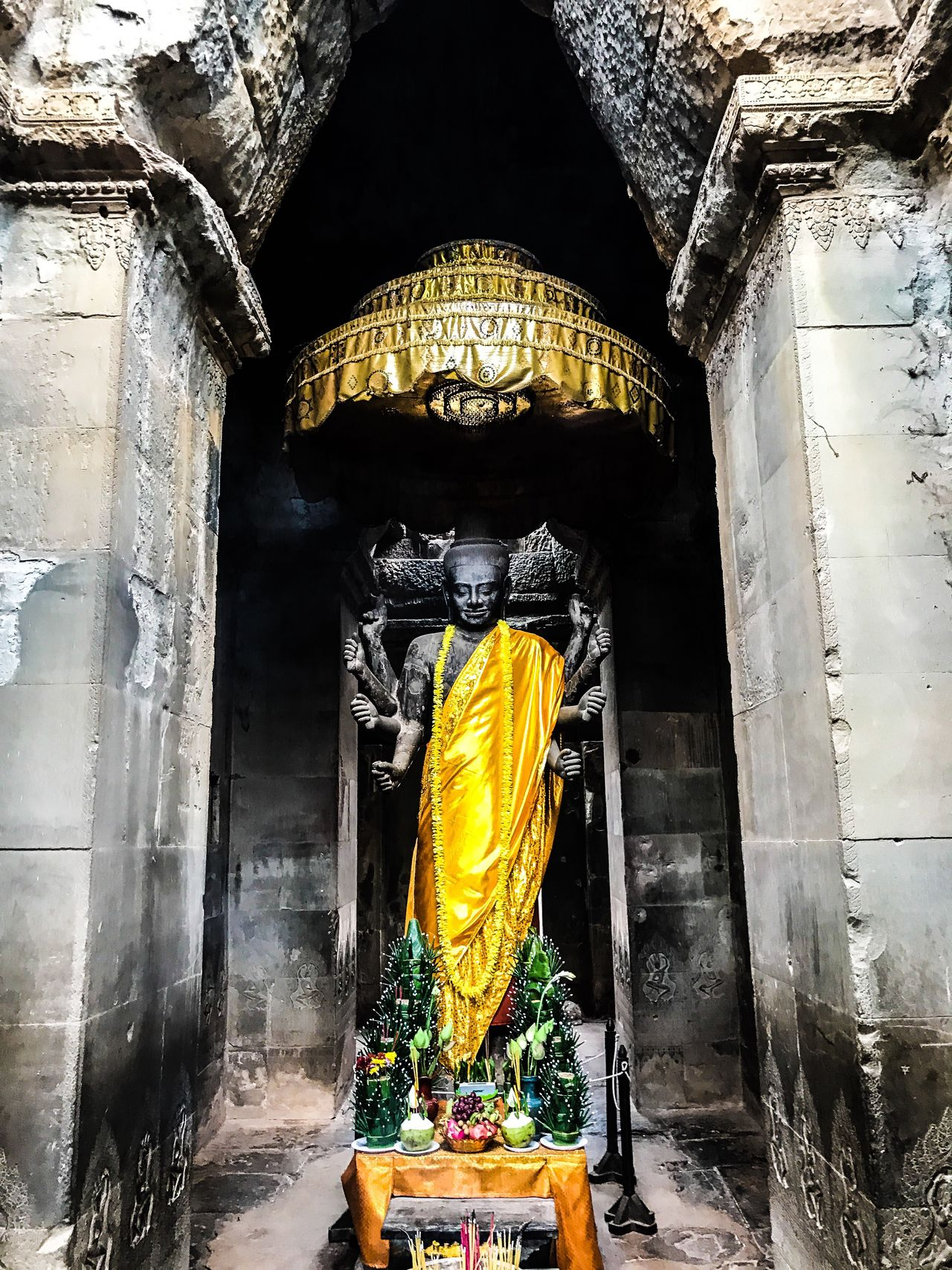 Angkor Wat Buddha. Religion Place Of Worship Travel Destinations Statue Cultures Cambodia Angkor Thom
