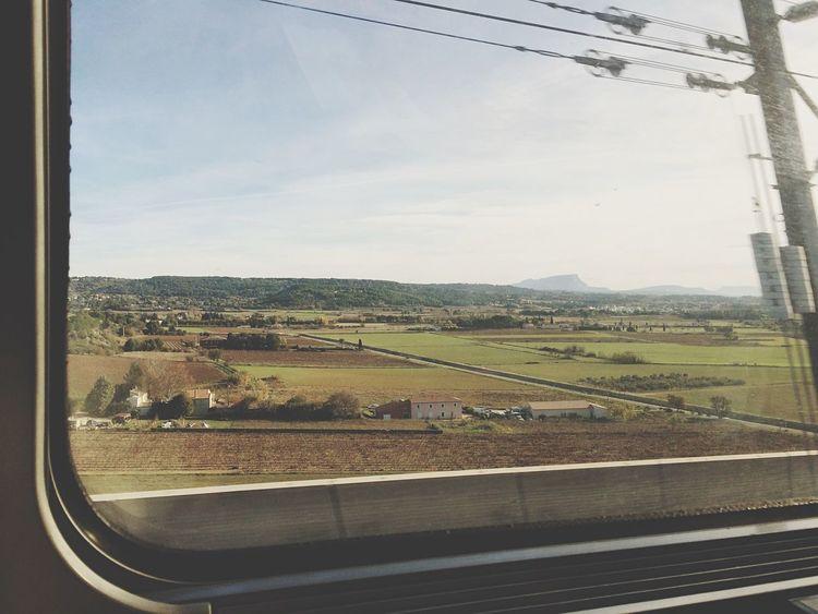 Grand voyage. Departure Train Road Goodbye Melancholic Landscapes