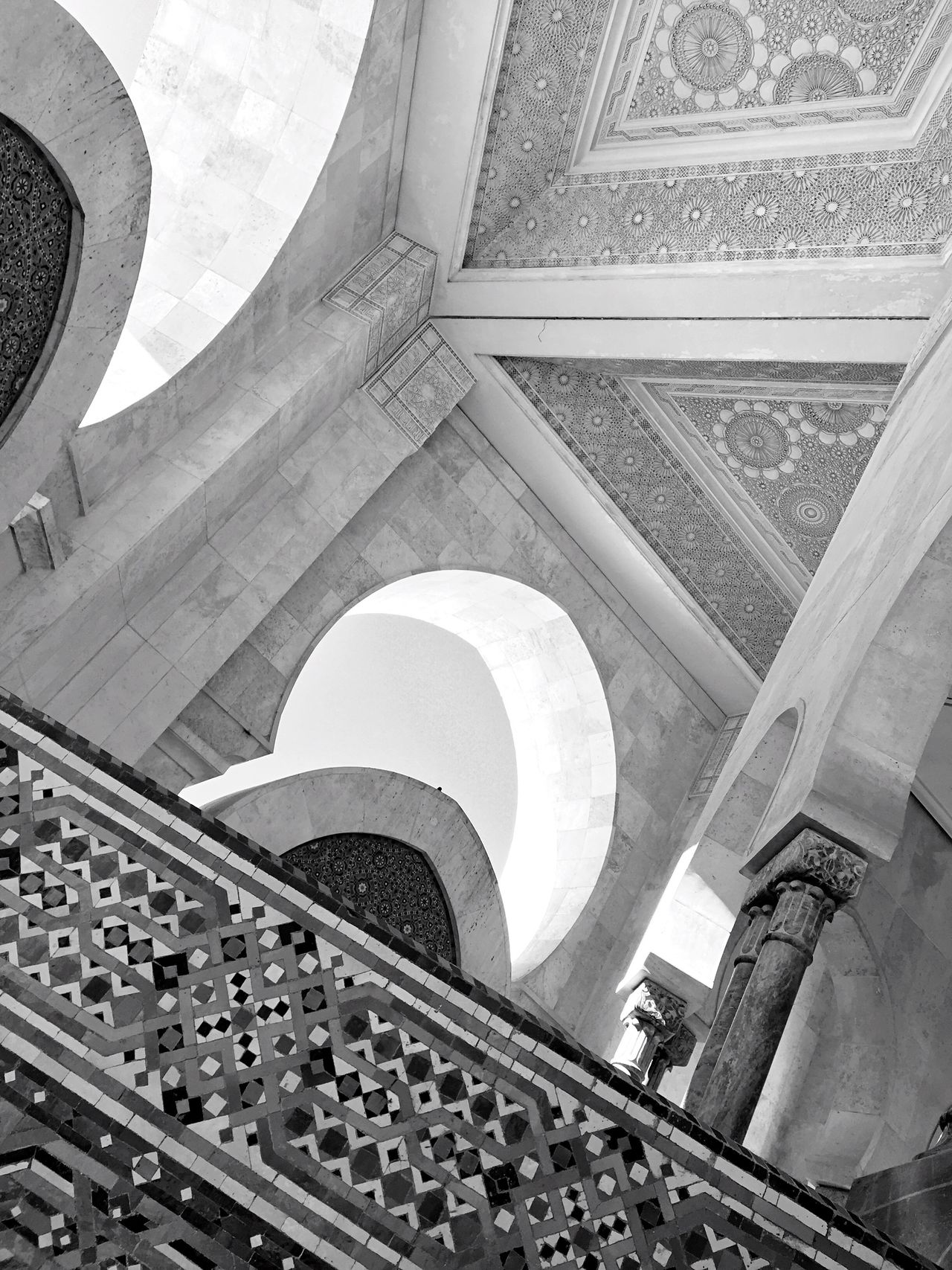 Architecture Built Structure Building Exterior Low Angle View Travel Destinations Ceiling Arch Pattern Pattern, Texture, Shape And Form Wall Pattern Arabic Style Arabic Architecture City