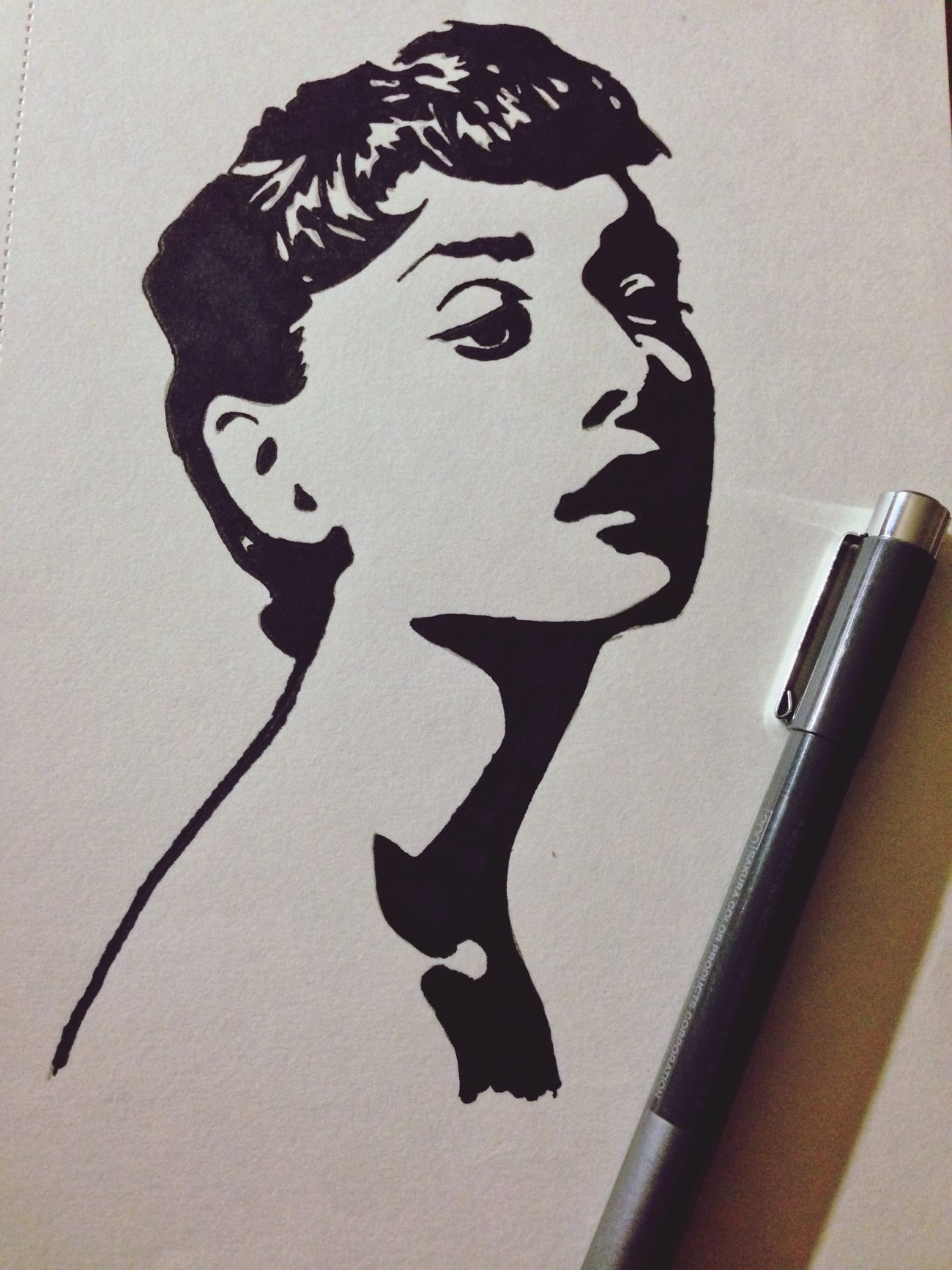 Audrey Hepburn Art Tattoo Drawing