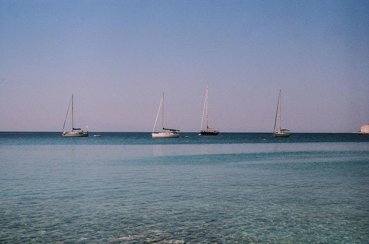Boats Aegean Sea Greece, Thasos Ishootfilm Film 35mm Rangefinder Buyfilmnotmegapixels Fed5b FSU